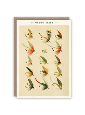 The Pattern Book Favourite Flies Card
