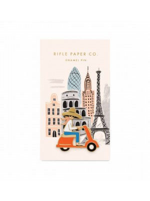 Rifle Paper Co. Enamel Pin Scooter Girl