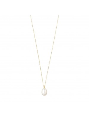 Pilgrim Eila Necklace Gold Plated White