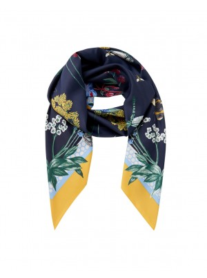 Joules Agatha Scarf Navy Bees