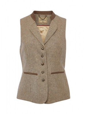 Dubarry Ladies Spindle Tweed Waistcoat