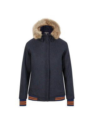 Annabel Brocks Bomber Jacket Navy/Orange