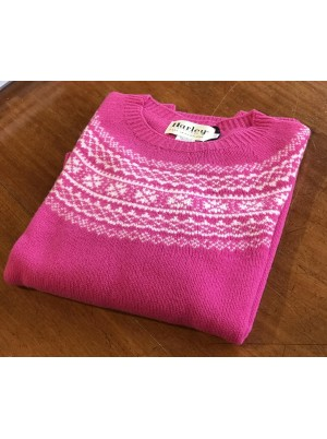 Harley Ladies Lambswool Crew Pink