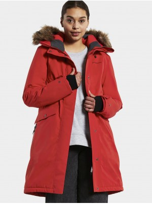 Didriksons Erika Womens Parka Pomme Red UK 10
